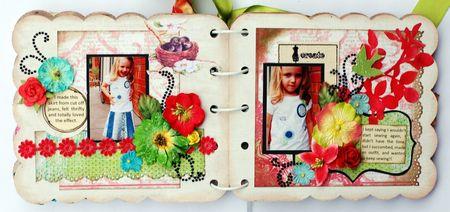 Fashionista Mini Album Page 4 and 5
