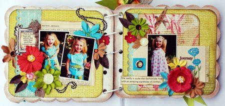 Fashionista Mini Album Page 6 and 7
