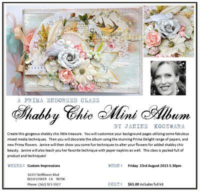 Shabby Chic Mini Album Class