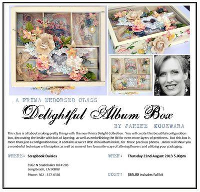 Delightful Album Box Scrapbook Daisies