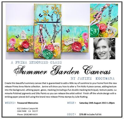 Summer Garden Canvas