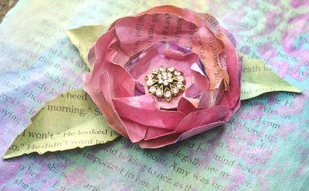Technique - H2O book paper Flowers1