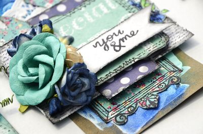 Blue Butterfly Tag Textural