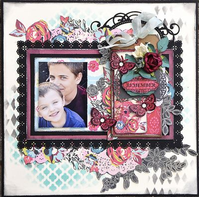 Coming Up Roses Layout from Tag
